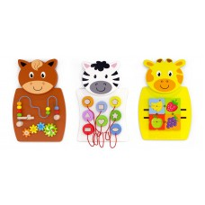 Wooden Animal Activity Wall Toy Set of 3 | Wall Panel – Sensory Wise