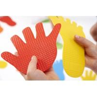 Hand Print Floor Marker Multi Colour Set   Sports Equipment – Sensory Wise