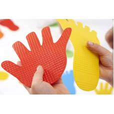 Hand Print Floor Marker Multi Colour Set | Sports Equipment – Sensory Wise