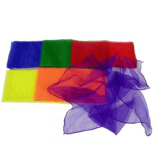 Set of colourful scarves suitable for sensory storytelling.