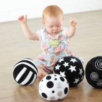 Baby Black and White Activity Ball Set of 4 | Baby Sensory - Sensory Wise