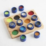 Wooden Touch and Match Board Game| Fine Motor Skill Toy – Sensory Wise