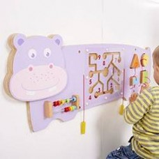 Wooden Hippo Activity Wall Toy | Wall Panel – Sensory Wise