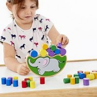 Wooden Balancing Elephant Game | Fine Motor Skill Toy – Sensory Wise