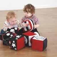 Baby Black and White Soft Cubes Set of 6 | Baby Sensory - Sensory Wise