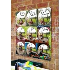 Acrylic Mirror 9 Convex Bubble 78cm | Mirror Panel - Sensory Wise