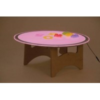 Round Light Table Set Colour Change | LED Light Panel - Sensory Wise