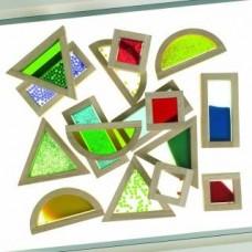 Wooden Rainbow Blocks Set of 16 | Construction Toy – Sensory Wise