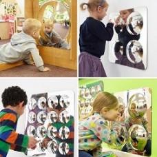 Acrylic Mirror Convex Bubble 49cm Set of 4 | Mirror Panel - Sensory Wise