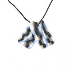Chewigem Combat Dog Tags Pendant | Sensory Chew Toy – Sensory Wise