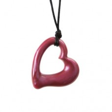 Chewigem Red Miller Heart Pendant | Sensory Chew Toy – Sensory Wise