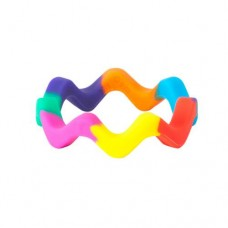 Chewigem Pride Colours Wave Bangle | Sensory Chew Toy – Sensory Wise