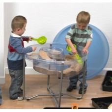 Large Round Clear Activity Tray & Stand Set | Play Tray – Sensory Wise