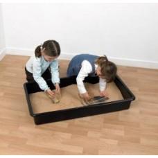 Black 1m Long Gardener's Discovery Tray   Play Tray – Sensory Wise