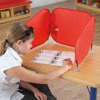 Red Pop Up Barrier Space Divider | Speech & Language – Sensory Wise