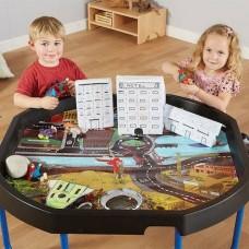 Superhero Tuff Tray Play Mat   Play Tray Accessory – Sensory Wise