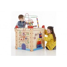 Wooden Large Activity Cube   Wooden Puzzle Toy – Sensory Wise