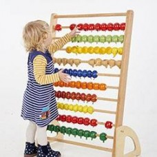 Wooden Giant Fruit Abacus   Maths Toy – Sensory Wise