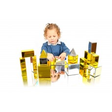 Metallic Building Blocks Set of 14 | Construction Toy – Sensory Wise