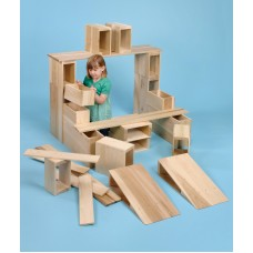 Giant Wooden Hollow Block Set of 26 | Construction Toy – Sensory Wise