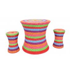 Rainbow Table & Stool Set | Play Room and Sensory Garden - Sensory Wise