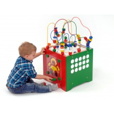 Wooden Combo Maze Activity Cube | Wooden Puzzle Toy – Sensory Wise
