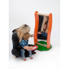 Wooden Curved Wavy Mirror Visual Toy | Mirror Panel – Sensory Wise