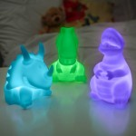 Dinosaur Colour Change Night Light Set of 3 | Visual Sensory Toy – Sensory Wise